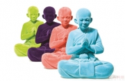 Deco Figurine Buddha Velvet Assorted
