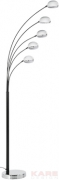 Floor Lamp Five Fingers Black/Chrome Economy