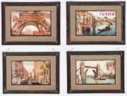 Picture Citys Vintage 42x58cm Assorted