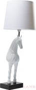 Table Lamp Standing Horse White
