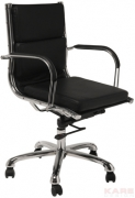 Office Chair Relax Leather Black