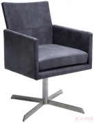 Swivel Arm Chair Dialog Anthracite