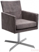 Swivel Arm Chair Dialog Brown