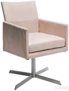 Swivel Arm Chair Dialog Cream