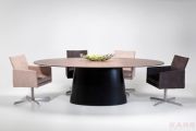Table Controversia black walnut 240x120cm
