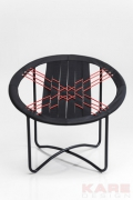 Arm Chair Bungee Black Red