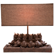 Table Lamp Sleeping Cats
