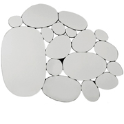 Mirror Water Drops Oval 98x132cm